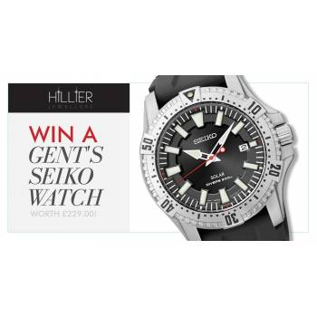 Win a gent's Seiko watch worth £299!