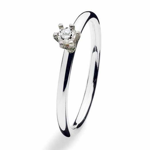 Silver Princess CZ Ring 122-00