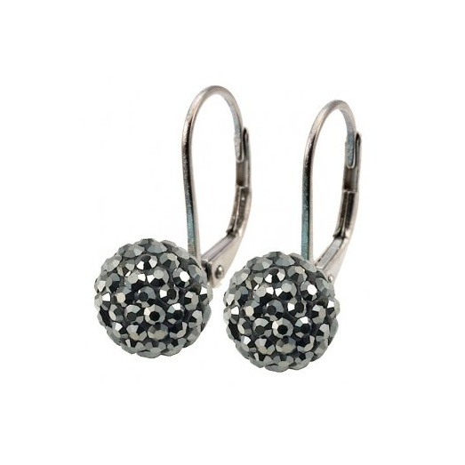 Grey Crystal Continental Clip Earrings 017919