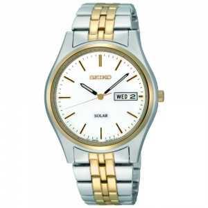 Seiko Gent's Two Tone Solar Watch SNE032P1