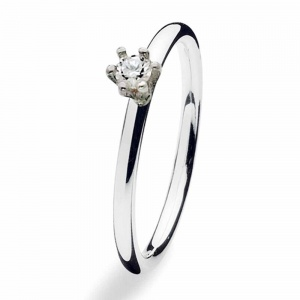 Spinning Jewelry Silver Princess CZ Ring 122-00