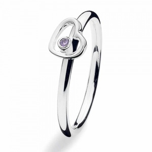 Spinning Jewelry Silver Heartbeat Ring 143-07
