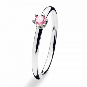 Spinning Jewelry Silver Princess Rose Ring 157-00