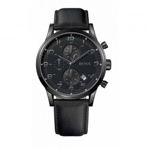 Hugo Boss Gents' Black Ion Plate Chronograph Aeroliner Watch 1512567