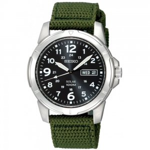 Seiko Gent's S/Steel Solar Military Watch SNE095P2