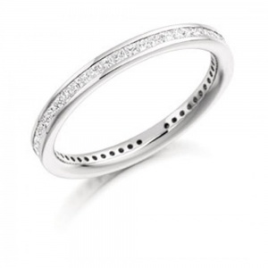 The Raphael Collection .62ct Princess Cut Full Eternity Ring FET885
