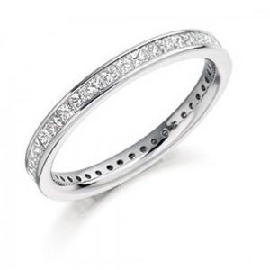 The Raphael Collection 1.00ct Princess Cut Full Eternity Ring FET887
