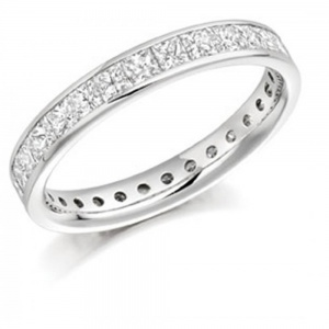 The Raphael Collection 2.05ct Princess Cut Full Eternity Ring FET1088