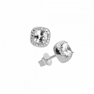 Diamonfire Silver Cubic Zirconia Cluster Earrings 62-1466-1-082