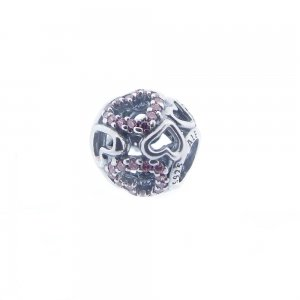 Pandora Silver Openwork Falling In Love Charm 791424CZS