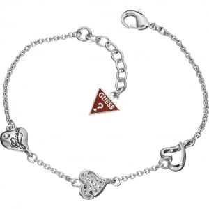 Guess Heart Charms Bracelet UBB81103