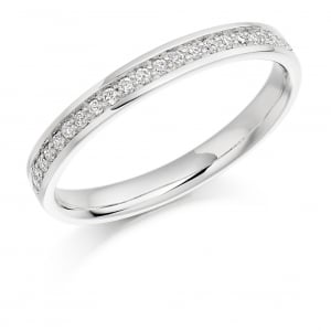 The Raphael Collection Round Brilliant Cut .17ct Half Eternity Ring HET1041