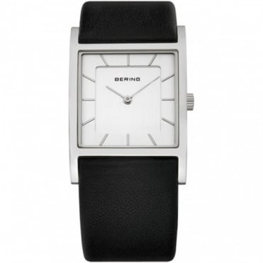 Bering Ladies Classic S/Steel Black Leather Strap 10426-400