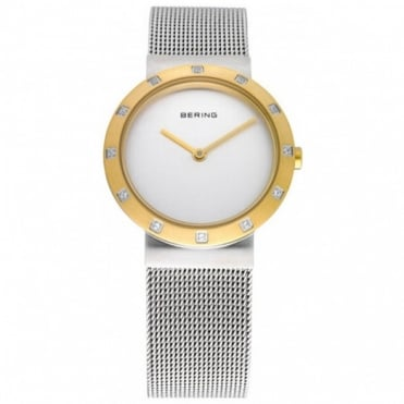 Bering Ladies Classic S/Steel Two Tone Watch 10629-010