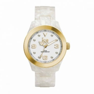 Ice-Watch Ice-Elgant Pearl Gold Watch EL.PGD.U.AC.12