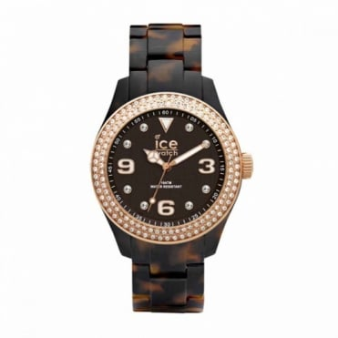 Ice-Watch Ice-Elgant Tortoise Rose Gold Unisex Watch EL.TRG.U.AC.12