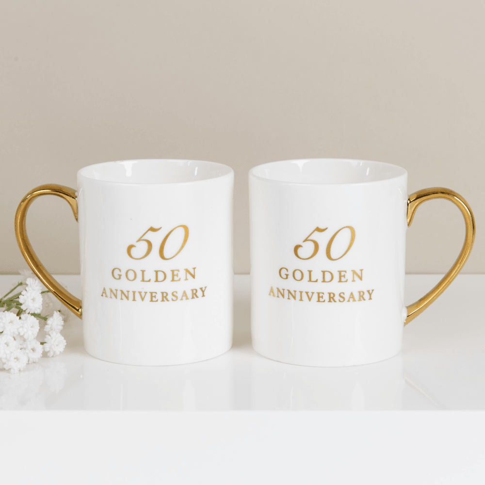 Golden Wedding Anniversary.50th Golden Wedding Anniversary Mugs