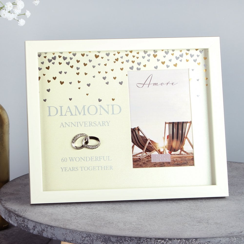 60th Diamond Wedding Anniversary Photo Frame Anniversary Gifts