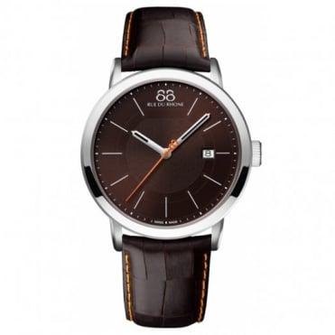 88 Rue Du Rhone Gent's 42mm Brown Leather Watch 87WA140022