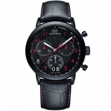 88 Rue Du Rhone Gents' Black S/Steel Chronograph Watch 87WA130032