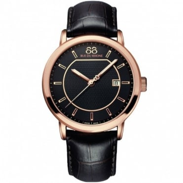 88 Rue Du Rhone Gents' Rose Gold Plate Watch 87WA130013