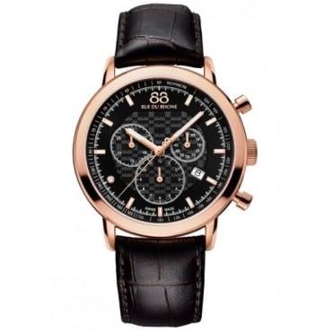 88 Rue Du Rhone Gent's Rose Plate Chronograph Watch 87WA154207