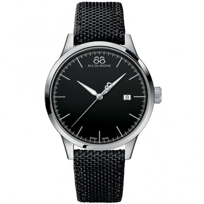 88 Rue Du Rhone Gents' Stainless Steel Black Nato Strap Watch 87WA154111