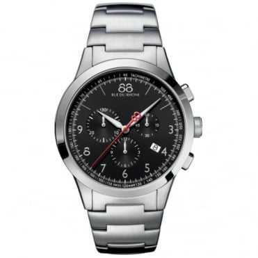 88 Rue Du Rhone Gents' Stainless Steel Chronograph Rive Watch 87WA154309