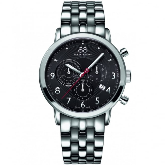 88 Rue Du Rhone Gents' Stainless Steel Chronograph Watch 87WA120055