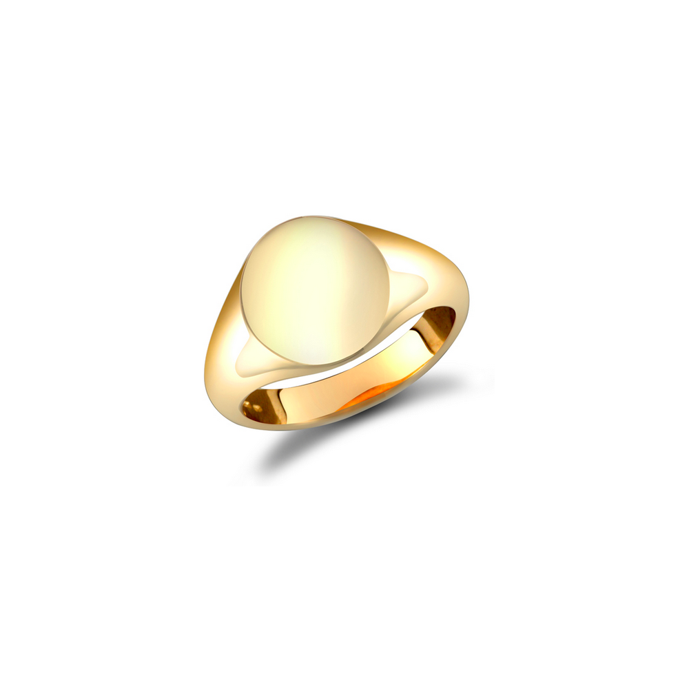 9ct Gold Men S Plain Oval Signet Ring Jewellery From Hillier