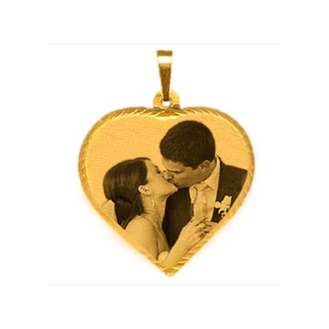 9ct Small Laser Photo Pendant