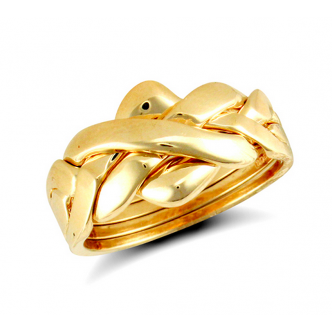 9ct Yellow Gold 4 Piece Puzzle Ring