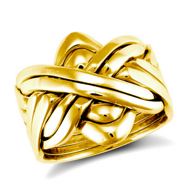 9ct Yellow Gold 8 Piece Puzzle Ring