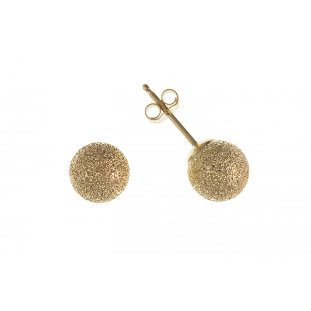 48c2d114f 9ct Yellow Gold Frosted Ball Stud Children's Earrings 4mm - 8mm
