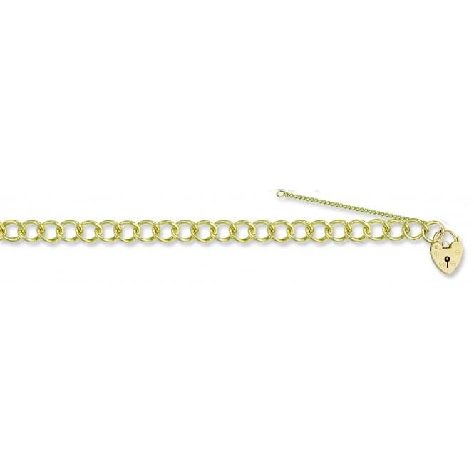 9ct Yellow Gold Open Link Charm Bracelet