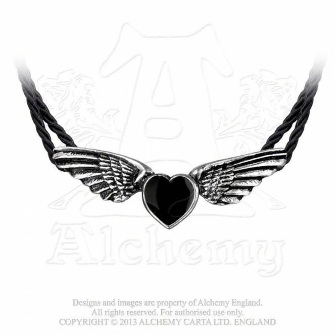 Alchemy Gothic Coeur Noir Necklace P410