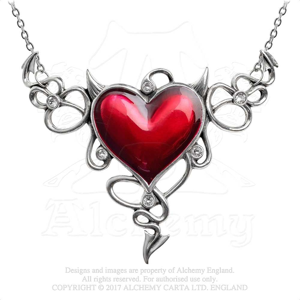18f4ec2b1 Alchemy Gothic Devil Heart Genereux Necklace ULFP25 - Jewellery from ...
