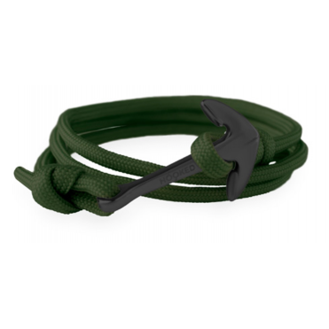 Army Green Paracord & Black Bracelet ABR10