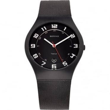 Bering Gents' Black Titanium Watch 11937-222
