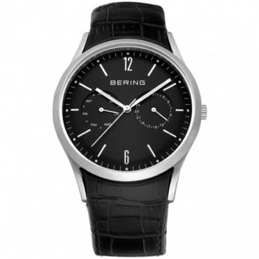 Bering Gent's Classic Black Leather Chronograph Watch 11839-402