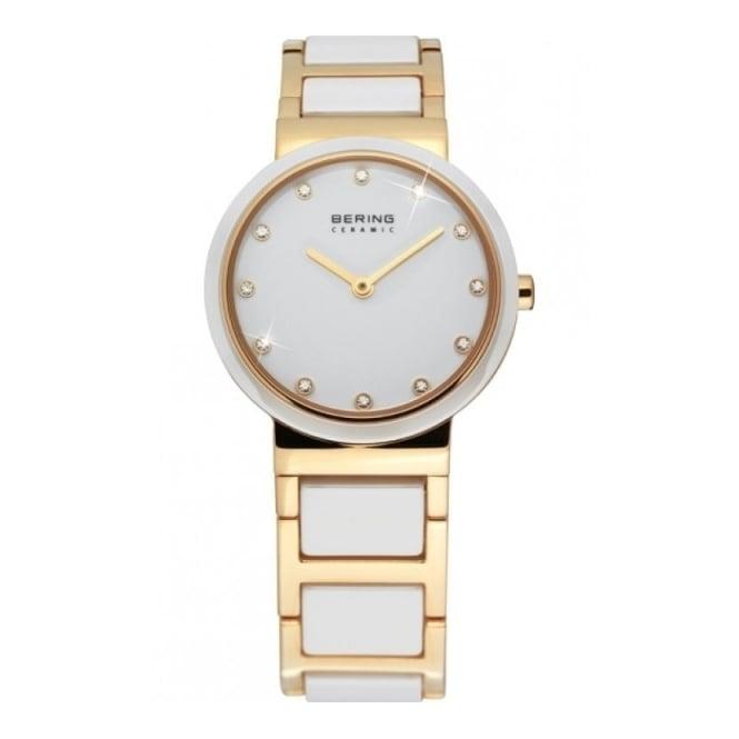 Bering Ladies' Gold Plated Steel & Ceramic Watch 10725-751