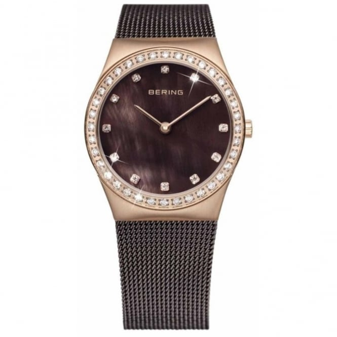 Bering Ladies' Rose Gold Plated Watch 12426-262
