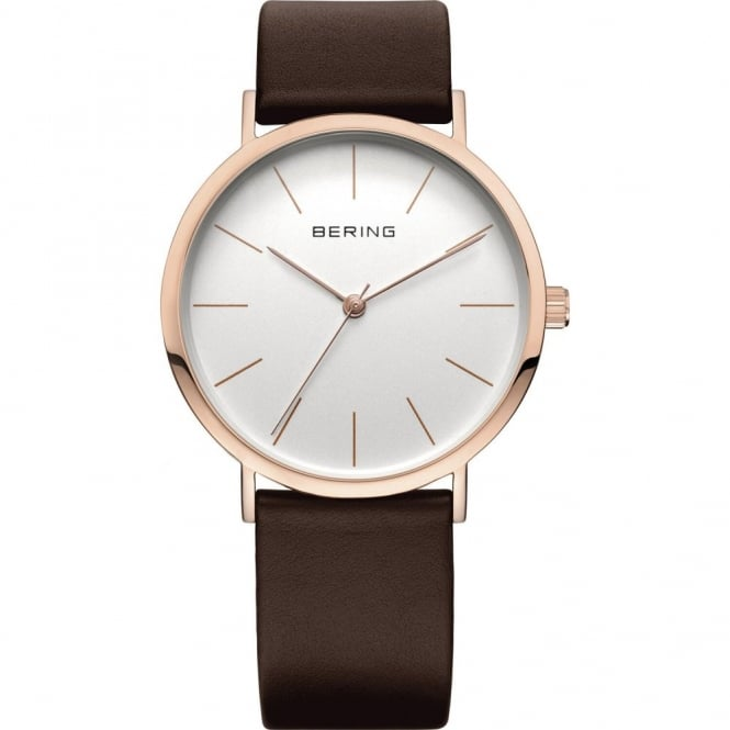 Bering Ladies' Rose Gold Plated Watch 13436-564