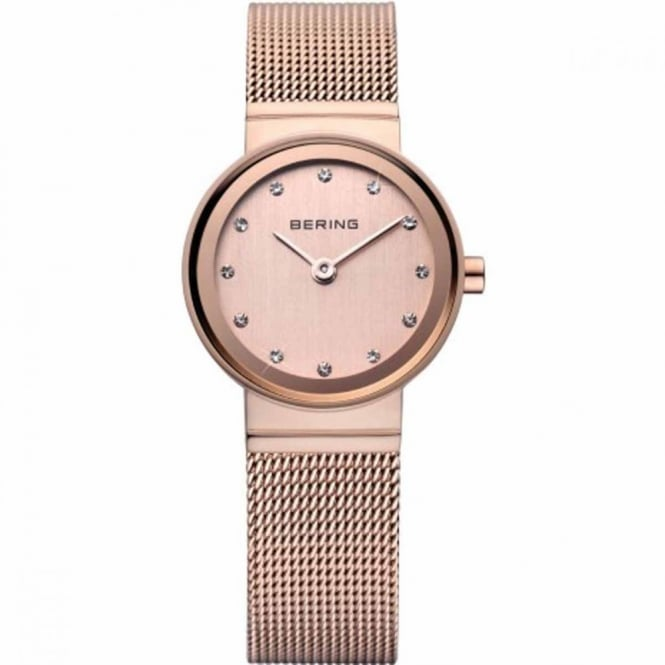 Bering Ladies Rose Gold Stone Set Watch 10122-366