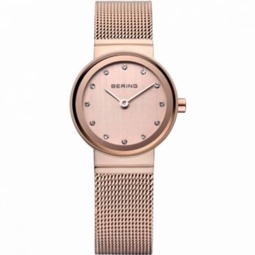 Ladies Rose Gold Stone Set Watch 10122-366