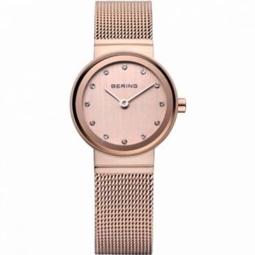 Bering Ladies Rose Gold Stone Set Watch 10122-366