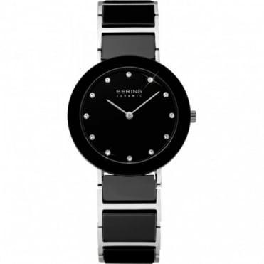 Bering Ladies S/Steel & Black Ceramic Watch 11429-742