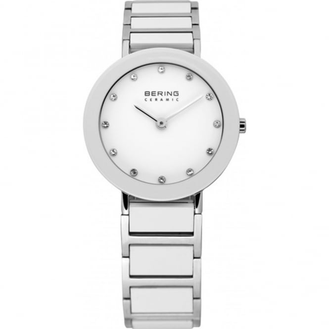 Ladies S/Steel & Ceramic White Watch 11429-754