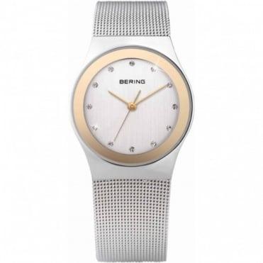 Bering Ladies Two Tone Stone Set Watch 12927-010