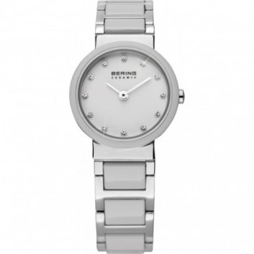 Ladies' White Ceramic Watch 10725-754